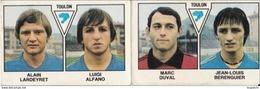 PANINI FOOTBALL 1979 LOT DE 2 IMAGES TOULON - Panini