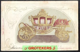 DE GOUDEN KOETS Hold To Light Card Treinstempel Harlingen-Nieuweschans A 1903   Lees ! - Nederland