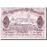 Billet, Autriche, Wiener Neustadt, 50 Heller, Rempart, 1920, 1920-03-29, SPL - Autriche