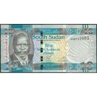 TWN - SOUTH SUDAN 7 - 10 Pounds 2011 Prefix AH UNC - Sudan Del Sud