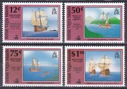 Jungferninseln Virgin Islands 1991 Geschichte History Entdeckung Discovery Kolumbus Columbus Schiffe Ships, Mi. 739-2 ** - Iles Vièrges Britanniques