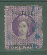 Grenada: 1881   QV  'Postage' OVPT - Surcharge   SG21     ½d   Deep Mauve      Used - Grenada (...-1974)