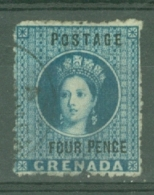 Grenada: 1881   QV  'Postage' OVPT - Surcharge   SG23     4d     Used - Grenada (...-1974)