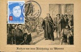 43897 Papua & New Guinea, Maximum 2017 Showing Martin Luther Vor Dem Reichstag Zu Worms ( Rare Card) - Christentum