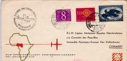 KLM 1960 / PREMIER VOL AMSTERDAM CONAKRY - Avions