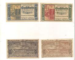 2 Notgeldscheine Pöchlarn 40 + 50 H - Autriche