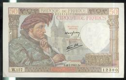 Billet 50 Francs France Jacques Coeur 8-1-1942.D. TTB - 1871-1952 Antichi Franchi Circolanti Nel XX Secolo