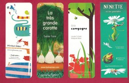 4 Marque Page Balivernes éditions.     Bookmark - Marque-Pages