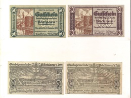 2 Notgeldscheine Pöchlarn 60 + 80 H - Autriche