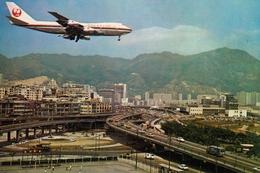 HONG KONG - TSOIHUNG ROAD - JAL JAPAN AIR LINES PLANE - Chine (Hong Kong)