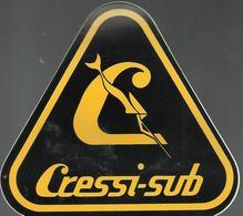 Autocollant - Cressi-Sub - Plongée - Autocollants
