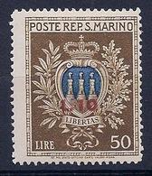 SAINT MARIN - 275  ARMOIRIES SURCHARGE NEUF* MLH COTE 22 EUR - Saint-Marin