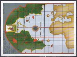 Jungferninseln Virgin Islands 1992 Geschichte History Entdeckung Discovery Kolumbus Columbus Seekarten Maps, Bl. 76 ** - British Virgin Islands