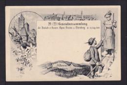 """1898 - 5 Pf. Privat Ganzsache Nürnberg - Abbildung """"Edelweiss"""" - Ungebraucht - Végétaux"""
