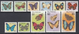 Guyana 1978 - Definitive Stamps: Butterflies - Mi 542-552 ** MNH (see Description) - Guyane (1966-...)