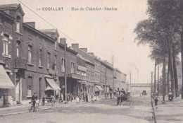 Couillet - Rue De Châtelet - Station - Pas Circulé - Animée - Voitures Attelées - TBE - Charleroi - Charleroi