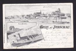 """1899 - 5 Pf. Privat Ganzsache """"Alte Und Neue Brücke In Dirschau"""" - Gebraucht - Ponts"""