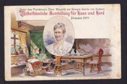 1899 - 5 Pf. Privat Ganzsache Dresden - Vogelkäfig über Fenster - Ungebraucht - Oiseaux