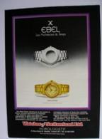 ORIGINAL UNDATED MAGAZINE ADVERT FOR EBEL WATCHES - Advertising