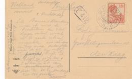 Nederlands Indië - 1926 - 12,5 Cent Wilhelmina Op Sepia Hotelansicht Van LB SINDANGLAJA Naar Den Haag - Nederlands-Indië