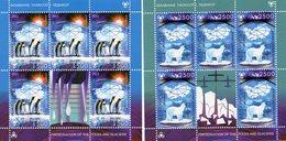 BIELORUSSIE 2011  / Superbe 2 Blocs 5 Valeurs + 2 Valeurs Dentelées MNH - Préservation Des Régions Polaires & Glaciers