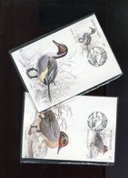 Belgie 2332/35 B19 Ducks Andre Buzin Birds Herdenkingskaarten Athus 2/9/1989 RR En Emballage Plastic Fermé - 1985-.. Birds (Buzin)