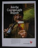 ORIGINAL 1969 MAGAZINE ADVERT FOR COURAGE LIGHT ALE - Advertising