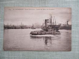 CPA 59 DUNKERQUE ENTREE DES MOLES DES FREYEINETS PAQUEBOT REMORQUEUR - Dunkerque