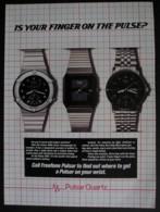 ORIGINAL 1986 MAGAZINE ADVERT FOR PULSAR QUARTZ WATCHES - Advertising
