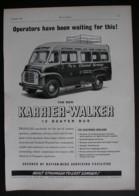 ORIGINAL 1958 MAGAZINE ADVERT FOR KARRIER-WALKER 12 SEATER BUS - Advertising