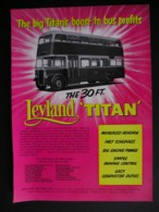 ORIGINAL 1958 MAGAZINE ADVERT FOR LEYLAND 30FT TITAN D/DECK BUS - Advertising