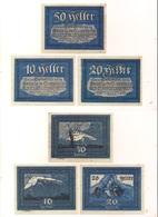 3 Notgeldscheine Siezenheim 10, 20 + 50 H - Autriche