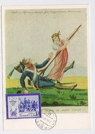 CARTE MAXIMUM CM Card USSR RUSSIA War France Napoleon Satire Caricature Partisan - 1923-1991 UdSSR