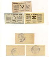 3 Notgeldscheine Schrems 10, 20 + 50 H - Autriche