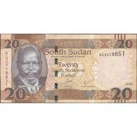 TWN - SOUTH SUDAN 13b - 20 Pounds 2016 Prefix AG UNC - Südsudan