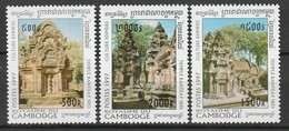 CAMBODGE - N°1416/8 ** (1997) Vues Du Temple Banteay Srei - Cambodge