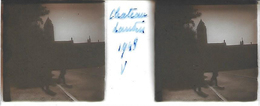 Plaque De Verre Stéréoscopique Positive - Année 1948 - Château Landon - Plaques De Verre