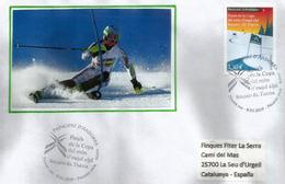 FINALE De La COUPE DU MONDE De SKI ALPIN 11-17 Mars 2019 .  FDC D'Andorre Adressé En Espagne - FDC