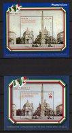 Italia Vaticano Emissione Congiunta 2011 150° Anniv. Unità D'Italia 2 BF Joint Issue Italy Vatican - Emissioni Congiunte