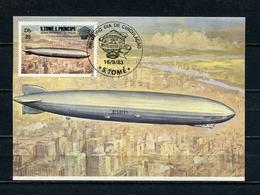 SAO TOME And PRINCIPE 1983 200 Years Of AVIATION MAXIMUM CARD MAXI CARD CARTE MAXIMUM - Sao Tome Et Principe