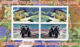 MOLDAVIE 2009 / Superbe 4 Valeurs Dentelées Sur Bloc MNH - Préservation Des Régions Polaires & Glaciers
