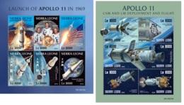 Sierra Leone 2019 Apollo 11 Moon Landing 50th Aniv MS+S/S SRL190319 - Famous People
