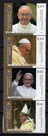 Argentina 2013 Joint Issue With Vatican City Streep 4 Stamps Pope Franciscus - Emissioni Congiunte