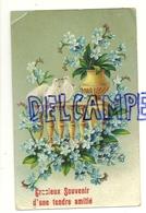 Gracieux Souvenir D'une Tendre Amitié. Balustrade, Colombes, Myosotis. 1910. Glacée - Fleurs