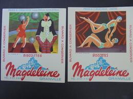 BUVARD - LE CIRQUE Et DANSE ACROBATIQUE - BISCOTTES MAGDELEINE - LOT 2 TITRES IDENTIQUES - Blotters