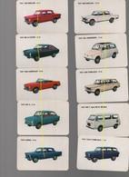 FIAT Jeu De Cartes Représentant Les 21 Modèles De Chez Fiat, Anciens Modèles Voitures Fiat,complet - Voitures