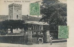 St Vincent . St Georges Cathedral. Stamped 2 Stamps . 1927 - Saint-Vincent-et-les Grenadines