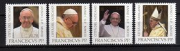 Vatican City 2013 Joint Issue With Argentina 4 Stamps Pope Franciscus - Emissioni Congiunte
