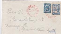 SCADTA + 1923 - Enveloppe Par Avion De MEDELLIN  POUR BARANQUILLA  - 33 Centavos - Encre Rouge - Colombia
