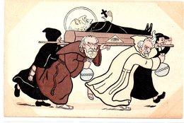 Religion : Carte Anticléricale : Les Millions !! Enterrement - Unclassified